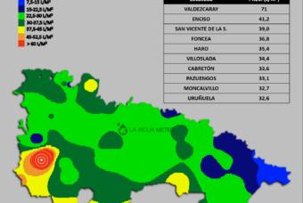 Las lluvias dejan más de 70 litros en Valdezcaray