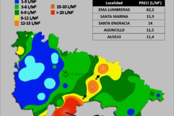 Las tormentas dejan más de 60 litros en Sierra Cebollera