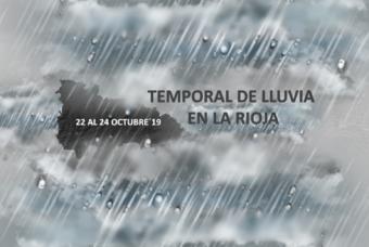 Temporal de lluvias en La Rioja 22 al 24 de Octubre´19