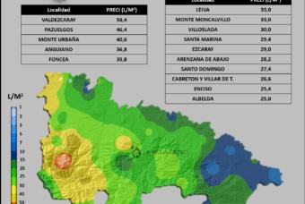 Lluvias registradas entre el 22 y el 24 de Octubre´19 en La Rioja