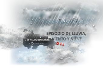 Viento, lluvia y nieve a cotas medias durante las próximas 48 horas en La Rioja