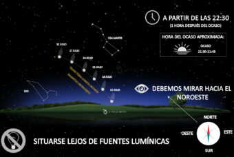 A partir del 15 de Julio el cometa NEOWISE será visible en el anochecer riojano