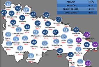 La inversión térmica marca las heladas en La Rioja