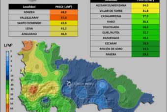 La lluvia se cebó con el Oeste de La Rioja