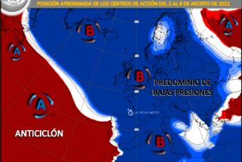Una semana más de tiempo fresco e inestable en la Península Ibérica