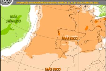 Bloqueo anticiclónico: sin lluvias destacadas a la vista en la Península Ibérica